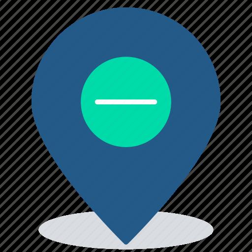 cancel, delivery address, location marker, location pin, remove location icon