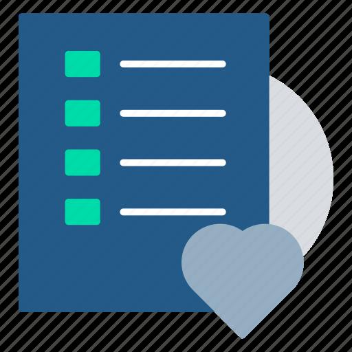 favorite, list, note, receipt, tasks, wishlist icon