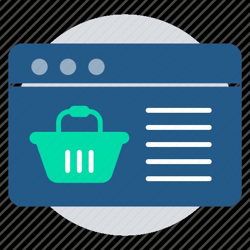 ecommerce website, marketing, online shopping, online store, purchase, shopping basket icon