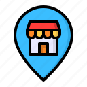 location, map, pin, shop, store icon