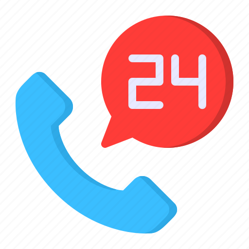 24 hours, call, customer, service, support icon - Download on Iconfinder