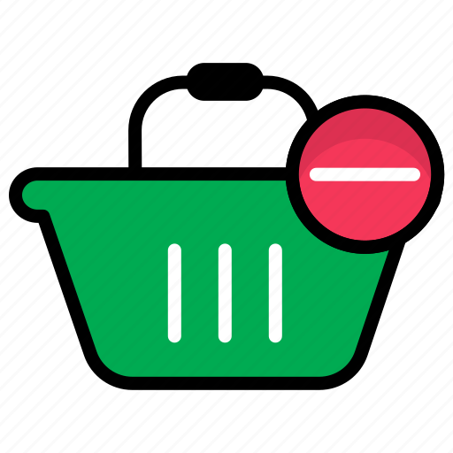 buy product, ecommerce, purchase, remove product, shopping cart icon