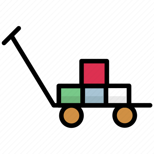 delivery, luggage, package, parcel, shipping, transport, trolley icon