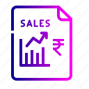 chart, finance, graph, growth, rupee, sales, stock