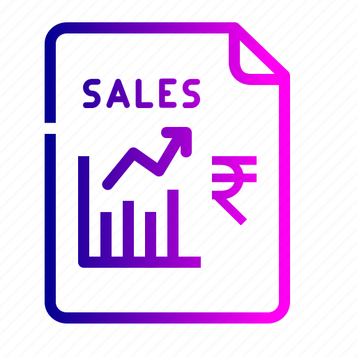 chart, finance, graph, growth, rupee, sales, stock icon