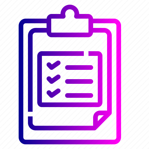 checklist, clipboard, delivery, details, document, information, product icon