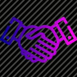 agreement, business, deal, finance, handshake, partnership, teamwork icon