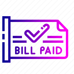 bill, ecommerce, online, paid, product, site, status icon