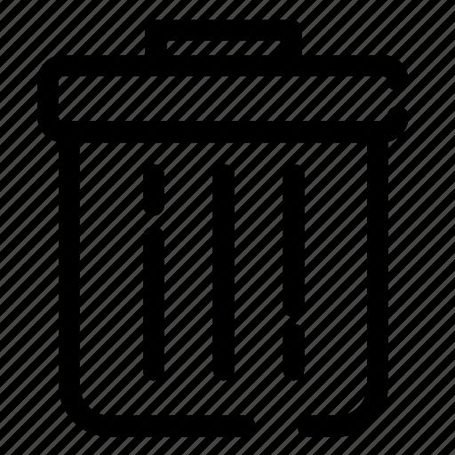 bin, delete, recycle, remove, trash, trash can, wastebin icon icon