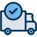 delivery, done, shipping icon