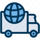delivery, global, shipping icon