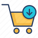 bag, basket, cart, ecommerce, shopping, shopping cart, trolley icon