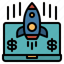 ecommerce, startup, launch, project, rocket
