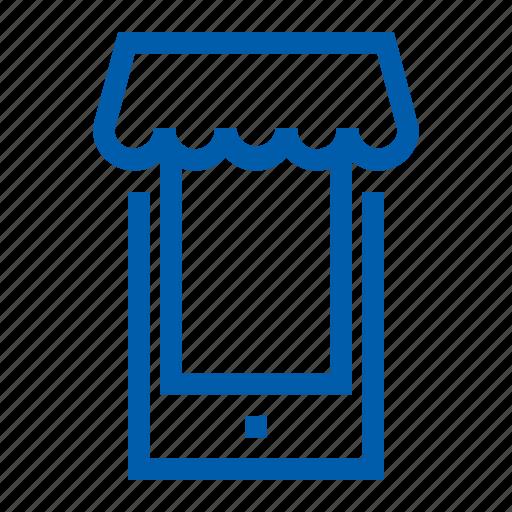 ecommers, handphone, market, set icon