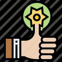 achievement, appreciation, award, like, success icon