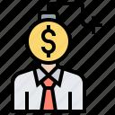 accounting, budget, crisis, debt, finance icon
