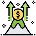 growth, increase, investment, profit, progress icon