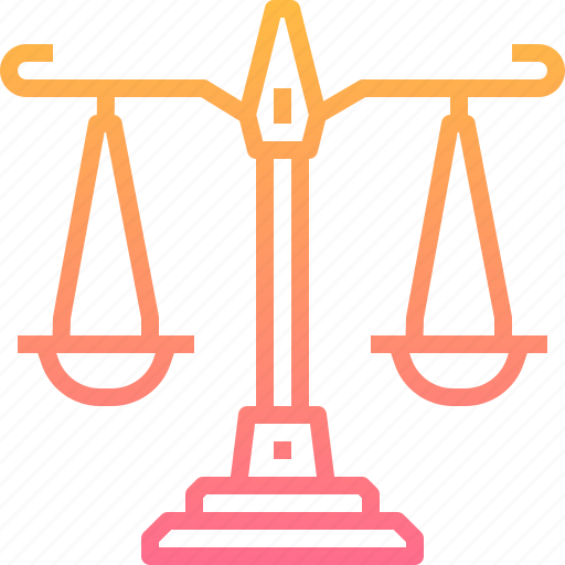 balance, business, finance, justice, scale, weight icon