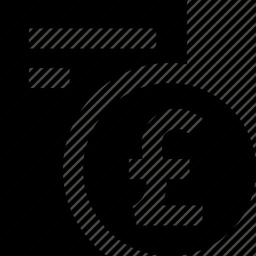 coin, dokument, list, pound, report, statement icon