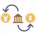 business, chart, coins, currencies, currency, exchange icon