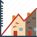 economical, financial, increase, money, profit, property, value icon
