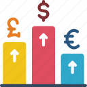 currency, economical, financial, increase, money, profit, value icon
