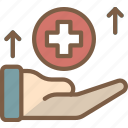 economical, financial, growth, healthcare, increase, money, profit icon