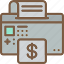 economical, financial, growth, money, printing, profit icon
