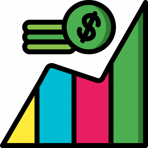 currency, economical, financial, growth, money, profit icon