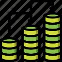 economical, financial, flow, growth, money, profit icon