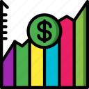 economical, financial, increase, market, money, stock, value icon