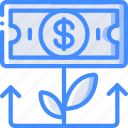 economical, economy, financial, growth, money, profit icon