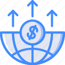 economical, financial, global, growth, increase, money, profit icon