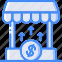 economical, financial, increase, market, money, profit, value icon