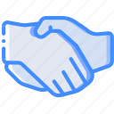 economical, financial, growth, hand, money, profit, shake icon