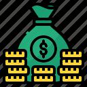 bag, cash, coin, dollar, money