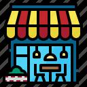building, business, market, shop, store