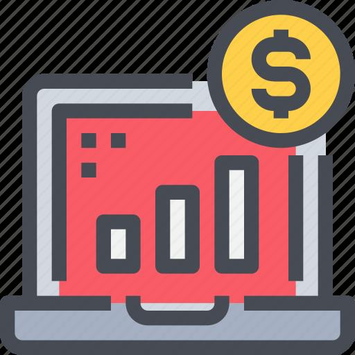 analysis, banking, business, economy, money, report, statistics icon