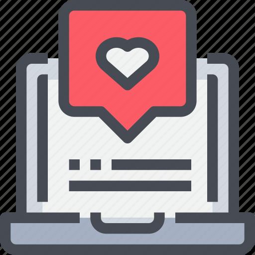 communication, love, media, message, social, social network icon