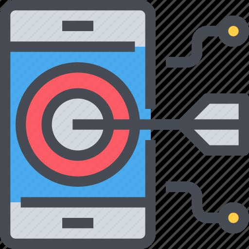 business, digital, market, marketing, planning, target icon
