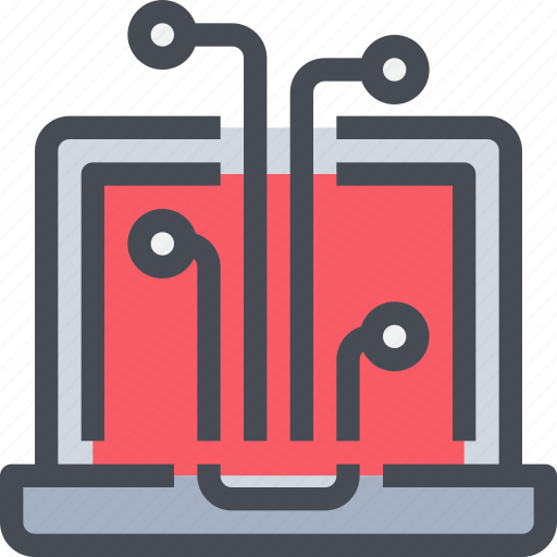 computer, connect, network, technology icon