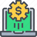 banking, business, economy, money, process icon
