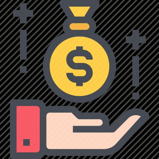 bag, banking, business, economy, investment, money, saving icon