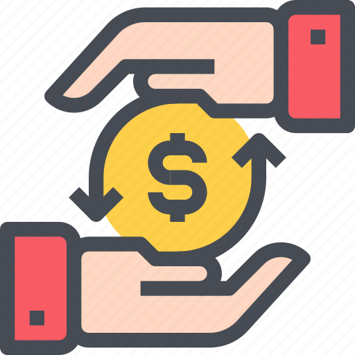 cash, currency, economy, exchnage, hand, money icon