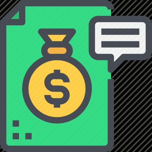 business, document, economy, finance, investment, saving icon