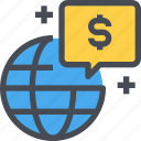 business, economy, finance, global, internet, network icon