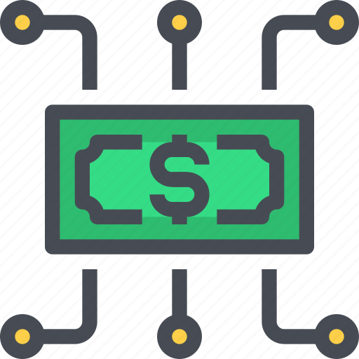 banking, business, cash, economy, money, network icon