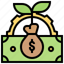 budget, capital, cash, investment, money icon