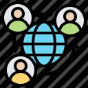 economic, globalization, interdependence, international, network icon