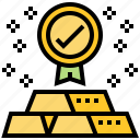 currency, gold, monetary, standard, treasury icon
